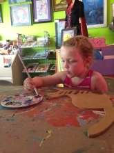 Painting session at a local art studio